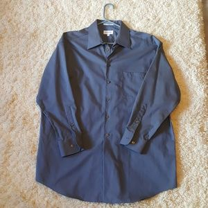 Men's periwinkle button down long sleeve shirt
